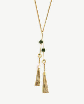 Ann Taylor Seed Bead Tassel Necklace