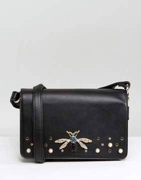 New Look Dragonfly Broach Cross Body Bag