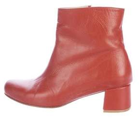 Maryam Nassir Zadeh Leather Round-Toe Ankle Boots
