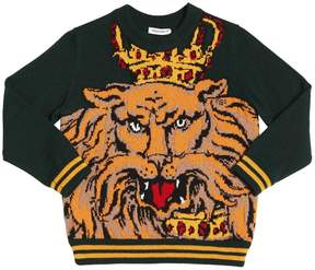 Dolce & Gabbana Lion Virgin Wool Sweater