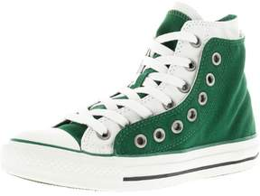 Converse Chuck Taylor Double Upper Hi Green / White High-Top Canvas Fashion Sneaker - 8M 6M