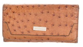 Burberry Ostrich Continental Wallet - BROWN - STYLE