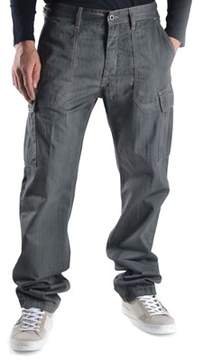 Mauro Grifoni Men's Grey Cotton Pants.