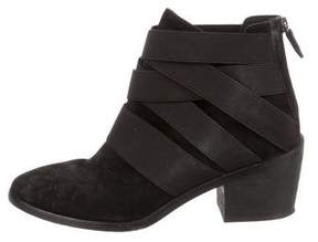 Eileen Fisher Round-Toe Suede Ankle Boots
