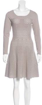 D-Exterior D. Exterior Wool-Blend Open Knit Dress