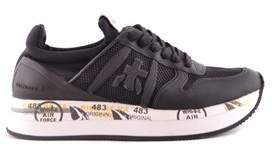 Premiata Women's Black Fabric Sneakers.