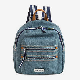 Sea City Compact Denim Backpack