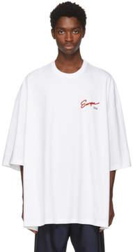 Balenciaga White Europe 2018 Big Fit T-Shirt