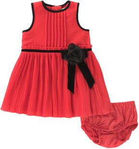 Kate Spade Pleated Chiffon Dress & Bloomers Set