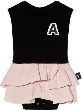 Nununu Black And Pink Skirt Onesie