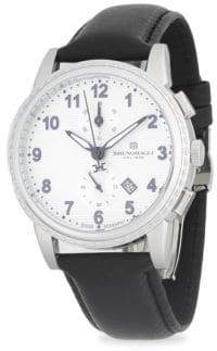 Bruno Magli Chronograph Leather-Strap Watch