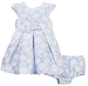 Little Me Blue Jacquard Special Occasion Dress (Baby Girls)