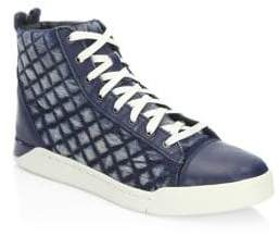 Diesel Tempus Diamond Leather Sneakers