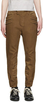 Balmain Brown Cropped Trousers
