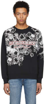 Burberry Black Weather Doodle Barford Sweatshirt