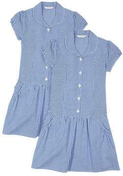 Marks and Spencer 2 Pack Checked Dress (2-14 Years)