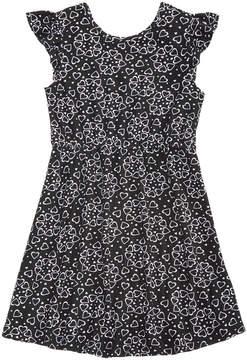 Epic Threads Little Girls Printed Flutter-Sleeve Super-Soft Dress, Created for Macy's