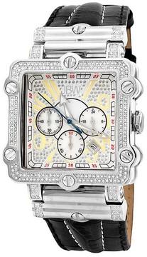 JBW Phantom Silver-tone Chronograph Crystal Dial Silver-tone Steel Diamond Men's Watch