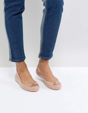 Melissa Pink Space Love Flat Shoes