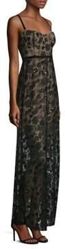 For Love & Lemons Beatrice Floral Overlay Maxi Dress