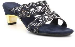 Onex Elise Rhinestone Detail Leather Dress Sandals
