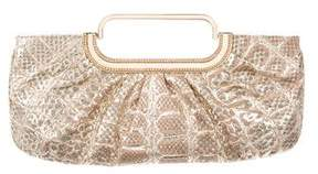 Judith Leiber Metallic Snakeskin Evening Bag