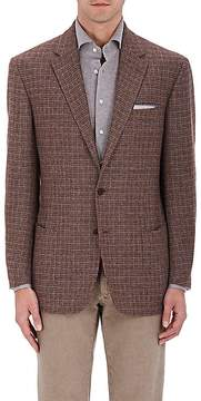 Luciano Barbera MEN'S CHECKED CASHMERE TWO-BUTTON SPORTCOAT