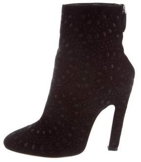Alaia Embroidered Ankle Boots w/ Tags