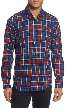 BOSS Men's Regular Fit Plaid Sport Shirt