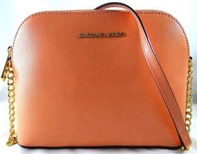 MICHAEL Michael Kors Cindy Large Peach Saffiano Leather Crossbody Bag - PEACH - STYLE