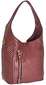 As Is orYANY Italian Grain Leather Hobo with Quilting - Lucianna