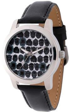 Marvel Comics Mens Black Strap Watch-Wma000060