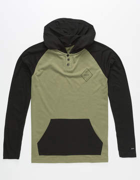 RVCA Graham Press Boys Lightweight Henley Hoodie