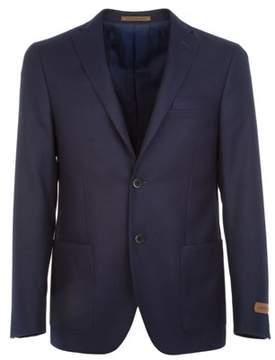 Corneliani Men's Blue Cotton Blazer.