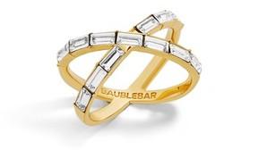 BaubleBar Women's Baguette Ring