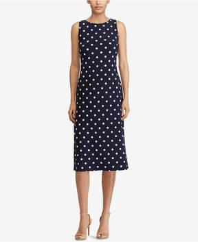 American Living Polka-Dot Sheath Dress