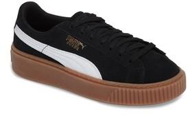 Puma Boy's Suede Platform Jr Sneaker