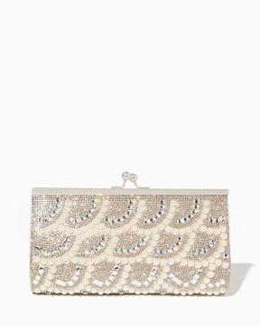 Kina Scalloped Pearl Clutch