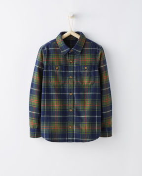 Hanna Andersson Forest Plaid Flannel Shirt