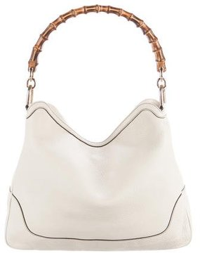 Gucci Diana Bamboo Satchel - WHITE - STYLE