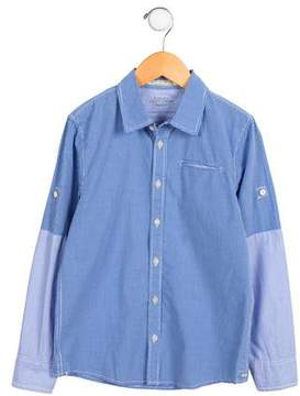Scotch Shrunk Boys' Gingham Button-Up Top