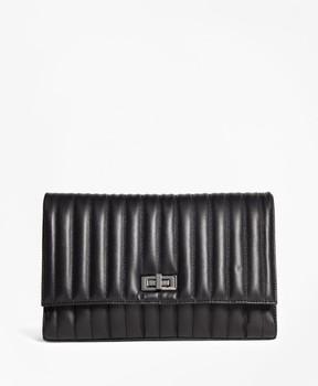 Brooks Brothers Leather Quilted Medium Shoulder Bag