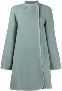 Chloé collarless a-line coat