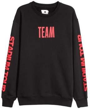H&M Sweatshirt with Printed Motifs