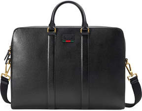 Gucci Leather briefcase with Web