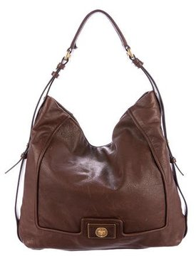 Marc by Marc Jacobs Grained Leather Hobo - BROWN - STYLE