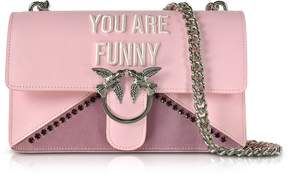 Pinko Love Funny Pink Eco Leather Shoulder Bag