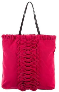 RED Valentino Patent Leather-Trim Tote Bag