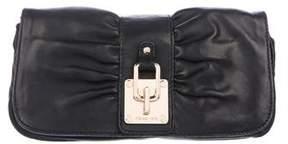 MICHAEL Michael Kors Lock-Embellished Ruched Clutch