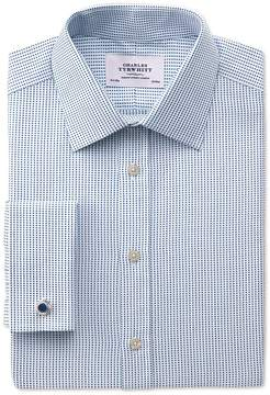 Charles Tyrwhitt Classic Fit Pima Cotton Double-Faced Navy Dress Shirt French Cuff Size 15/35